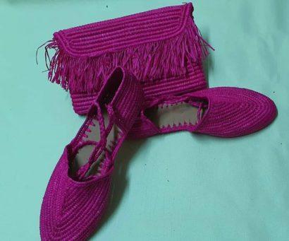 Chaussure Raphia Kyoto